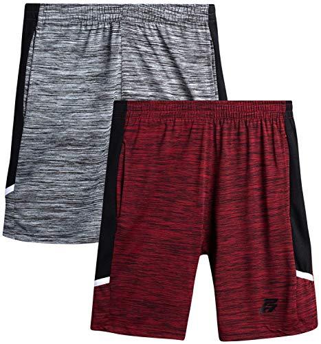 Pro Athlete Boys' Athletic Shorts - Active Performance Basketball Shorts (2 Pack)