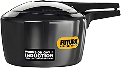 Futura Pressure Cooker with Induction Compatible Base, Black, 3 Liters, HWSIF30BLK