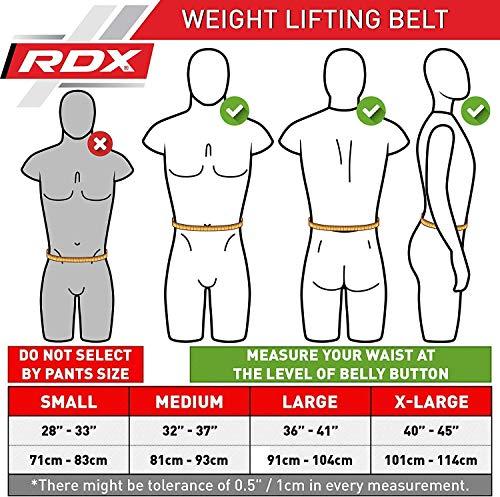 Authentisch RDX Gewichthebergürtel Gym Gürtel Rückenstütze Kraft Schmerz Training BK DE - 2