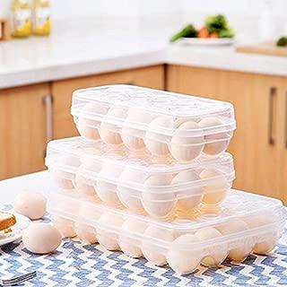 MegaBig Egg Holder Display, Refrigerator Transparent Egg Storage Box Cartons Holder Organizer Bins - Egg Carton Plastic, Carton Stands, Storage Box X, Plastic Storage Box, Egg Holder