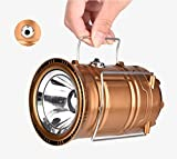 Camping Lantern Lights Tactical Flashlight Solar Folding 6 LED Bright Lamp Emergency Tent Light for Outdoor Play Camp...