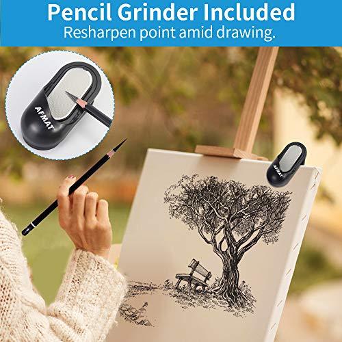 AFMAT Long Point Pencil Sharpener, Rechargeable Artist Pencil Sharpener, Electric Pencil Sharpener for 6-8.5mm Charcoal Pencils, Colored Pencils, Sketch Pencils, 25mm Super Long Tip, w/Pencil Grinder Photo #3