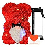 Rose Flower Bear for Anyone Love,Valentines Day Gifts for her,Rose...