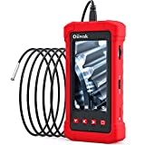 Oiiwak Industrial Endoscope Camera 3.9mm Bore Scope Inspection Camera with 4.3'' IPS Screen 1080P HD Video Digital Snake Camera Sewer Pipe Plumbing Camera for Car Engine HVAC Throttle Fix (1.5M/5FT)