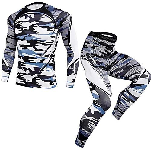 511Ewqb24WL. SS500  - FutuHome Men's Winter Thermal Underwear Set,Functional Thermal Underwear Breathable Active Base Layer SET