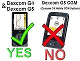 V2 / Black Classic Premium Nylontasche mit Gürtelclip für Old Dexcom G4 und Dexcom G5, passend für Original und Schutzhülle