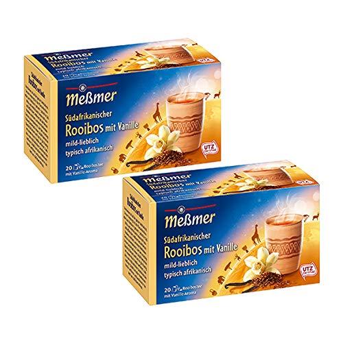 Meßmer Südafrikanischer Ovambo, Rooibos-Vanille 20 Teebeutel, 2er Pack (2 x 40 g Packung)