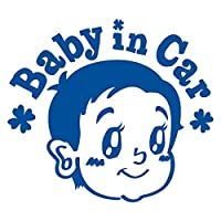 imoninn BABY in car ステッカー 【パッケージ版】 No.23 赤ちゃん2 (青色)