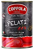 Coppola Ganze Geschälte Tomaten, Pelati – ohne Zusatz von Salz, 400g (6er Pack)