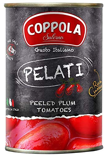 Coppola Pelati, Peeled Plum Tomatoes 400g (Pack of 6)