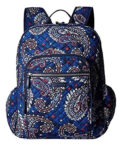 Vera Bradley Iconic Campus Backpack in Fireworks Paisley, Signature Cotton