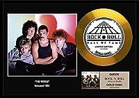 クイーン/Queen/gold disc album/金ゴールド ディスク/platinum disc album/プラチナディスク証明書付きフレーム/ディスプレイ/cd (The Works-10, GOLD DISC)