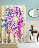 GYMNLJY 3D Digitaldruck wasserdicht verdicken Duschvorhänge Polyester Blackout schneiden aus hängenden Vorhang Bad Dusche Schatten für das Bad , 150x180