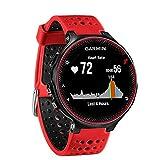 FunBand Correa para Garmin Forerunner 235, Banda de Reemplazo Silicona Suave Sports Pulsera para Garmin Forerunner 235/235 Lite/220/230/620/630/735XT/Approach S20/S5/S6 Smart Watch (Rojo&Negro)