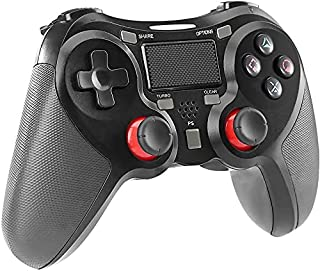 PS4 コントローラー ワイヤレス PS4 PC ゲームパッド PS4 Pro/Slim PC 対応 HD振動 連射 ゲームパッド ゲームコントローラー USB イヤホンジャック スピーカー内蔵 6軸センサー 高耐久ボタン ブラック