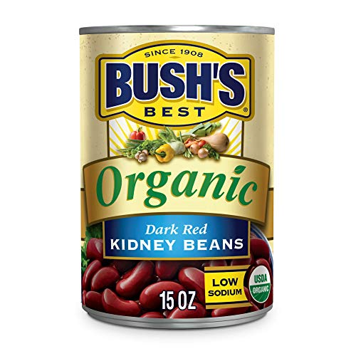 BUSH'S BEST Canned Organic Dark Red Kidney Beans (Pack of 12), Source...