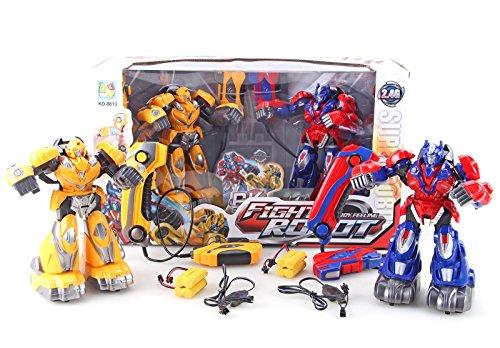 ROBOT COMBATTENTI Coppia Fighting Robots Radiocomando Ricaricabili USB bambini 8 A