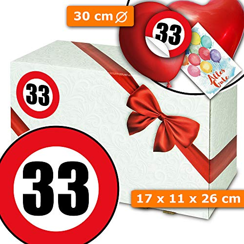 Geschenkidee Frau 33 - Geschenkeverpackungen - Geschenke zum 33 Geburtstag