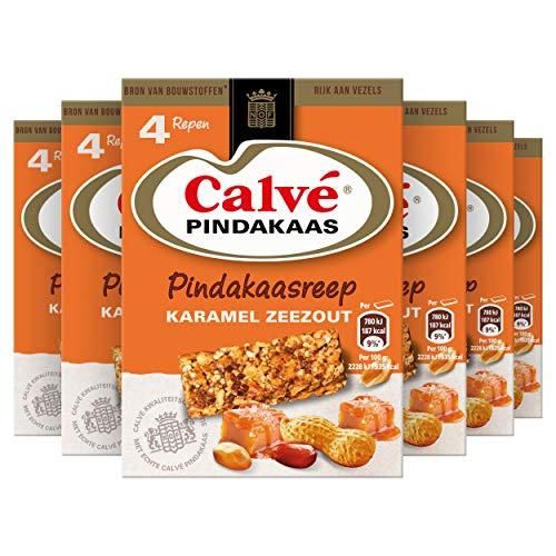 Calvé Karamel Zeezout Snackreep 6 x 4 repen Voordeelverpakking