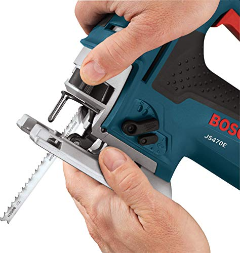 BOSCH Power Tools Jig Saws - JS470E Corded Top-Handle Jigsaw - 120V Low-Vibration, 7.0-Amp Variable Speed For Smooth Cutting Up To 5-7/8\