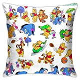 Ahdyr W-innie The P-ooh Pillow Cover Cushion Cover W-innie The P-ooh Decorative Pillow Case Sofa Seat Car Pillowcase Soft 18x18 Inch