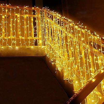 MOVEONSTEP Guirnaldas de Luces 300 LED 33m Guirnalda Luminosa Blanco Cálido 8 Modos Luces de Cadena para Fiestas Jardín Navidad Halloween Boda Iluminación Decorativa