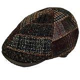 Harris Tweed Gorra Gatsby pachwork marrón (Marrón, 58)