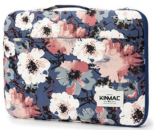 Kinmac 360 Degree Protective Waterproof Laptop Case Bag Sleeve with Handle (15 inch-15.6 inch, Camellia)