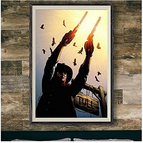 El pistolero de la torre oscura Stephen King 246 pared de tela de seda póster decoración artística regalo -50x70cmx1pcs -sin marco