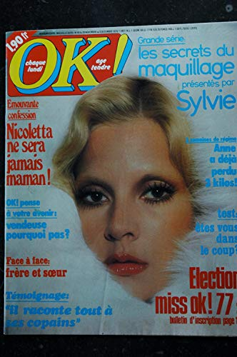 OK ! âge tendre 46 novembre 1976 * NICOLETTA LAUZIER SYLVIE VARTAN CHAMFORT