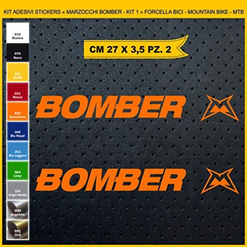 Pimastickerslab Aufkleber für Fahrrad, Gabel - Marzocchi Bomber - Kit 2 Stickers -Scegli SUBITO Colore- Bike Cycle Pegatin cod.0994, 035 Arancione