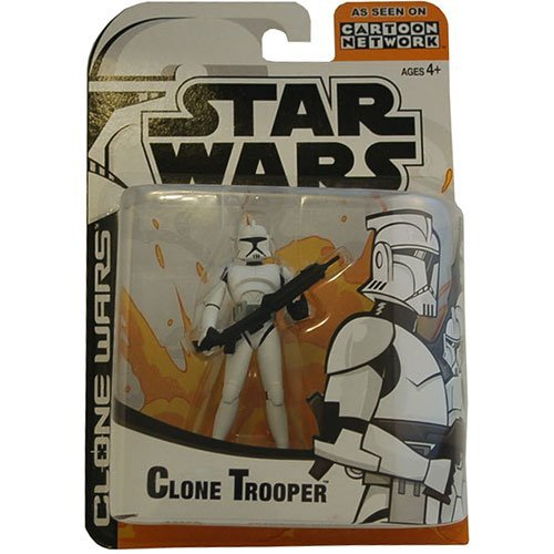 Star Wars Animated Clone Wars Clone Trooper Action Figure (Colors May Vary)