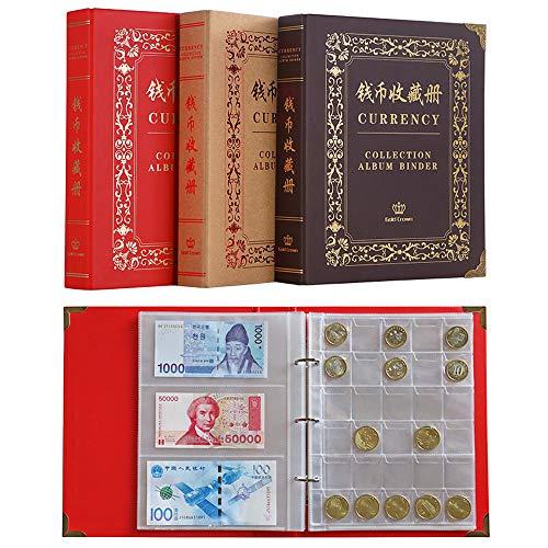 Guoc Álbum de Sellos,Libro de colección de Billetes de Gran Capacidad,Carpeta de...