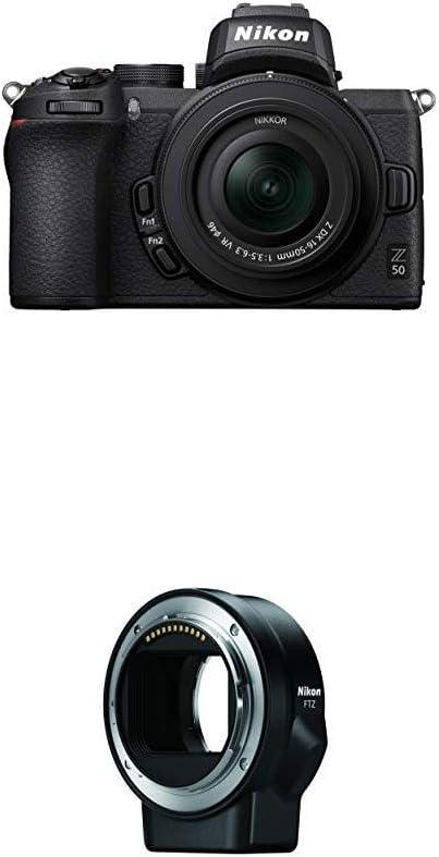 Z 50 DX-Format Mirrorless Camera Body w/NIKKOR Z DX 16-50mm + FTZ Mount Adapter