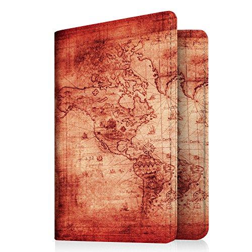 Famavala RFID Blocking Case Cover Holder Wallet for Passport (MapRose)
