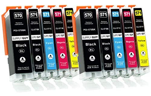 Supply Guy 10 XL Druckerpatronen kompatibel mit Canon PGI-570 CLI-571 für MG5700 MG5750 MG5751 MG5752 MG5753 MG6800 MG6850 MG6851 MG6852 MG6853 TS5000 TS5050 TS5051 TS5053 TS5055 TS6050 TS6051 TS6052