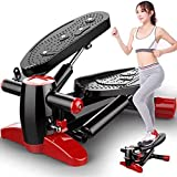SALE & CLEARANCE 【US Fast Shipment】 Mini Stepper Stepping Machine, Home Portable Elliptical Training Machines Fitness Stair Stepper for Indoor Legs Workout Multi-Function Pedal Sports Stepper (A)