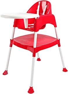 Luvlap Adjustable Plastic Feeding High Chair(8850)-Red, Piece of 1