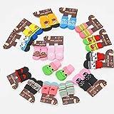 OGARC RichPaw Anti-Rutsch-Socken für Hunde, 3 x 7,5 cm, Herren, Gemischte Farbe M