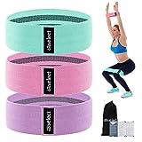 HBselect Cintas Elasticas Fitness Set De 3 Bandas De Resistencia Bandas Elasticas para Ejercicios De Glúteos Musculación Yoga Pilates Gimnasio Extensión De Pierna Accesorios De Fitness
