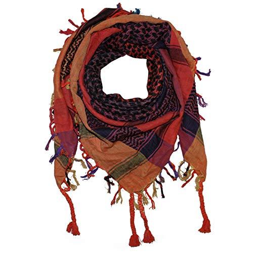 Superfreak Palituch - bunt-mehrfarbig 11-100x100 cm - Pali Palästinenser Arafat Tuch - 100{385b527c3488861a12fbadf759d2c8669f069ba5e964b7756c66d06fdb89b49e} Baumwolle