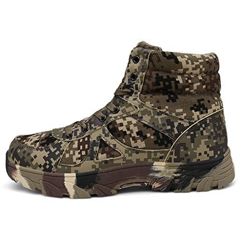 WERT Mens Tactical Boots Combat Boots Trainings Stiefel Wandern Ultra Low Top Herbst und Winter-Armee Stiefel Tarnung Militärstiefel,Camouflage-43