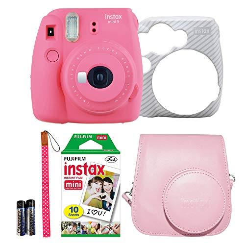 Fujifilm Instax Mini 9 Instant Film Camera Holiday Bundle (Flamingo Pink) 1 x Pack 10 Sheets instax...