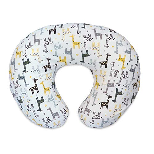 Boppy Original Nursing Pillow Cover, Gray Gold Giraffe,...