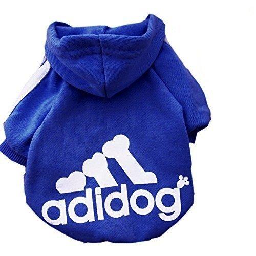 KayMayn, Adidog, felpa sportiva con cappuccio per animali domestici, per cani e gatti, adatta anche ai cuccioli, per cani di tutte le taglie (dalla S alla 9XL), 7 colori disponibili