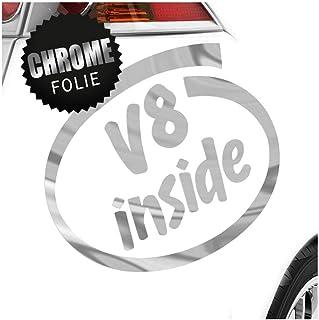 Kiwistar V8 Inside 11 x 10 cm IN 15 Farben   Neon + Chrom! Sticker Aufkleber