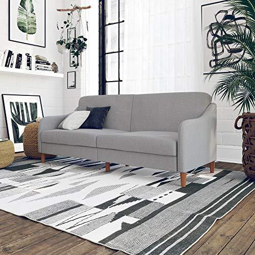 DHP Jasper Upholstered Coil Futon, Light Gray