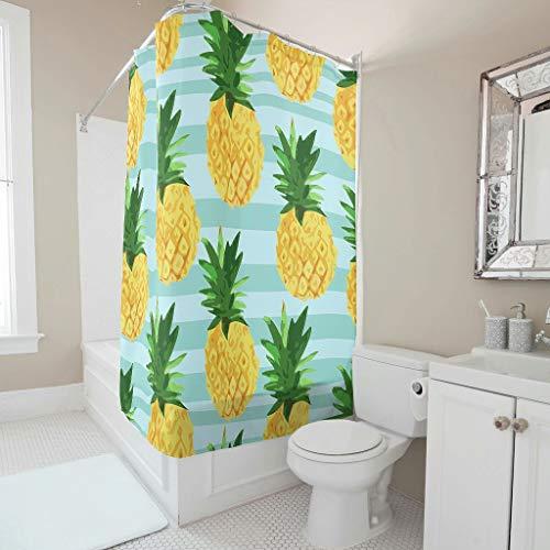 Zhiyue Douchegordijn, douchegordijn, lang aanhoudende warmte, wasbaar, hangend gordijn voor kinderkamer, babykamer, inclusief haak, pineapple