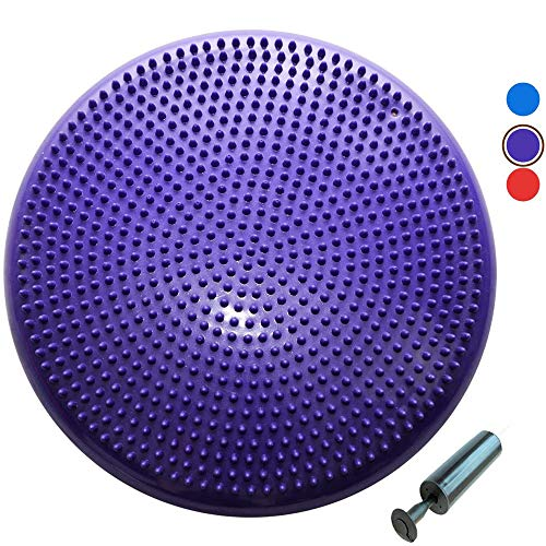 Portable Core Balance Disc, Home Exercise Wobble Cushion with Pump, Relieve Neck and Back Pain, Improve Peace, Coordination and Flexibility - for Office, Home, School