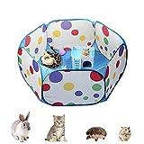 Nwvuop Jaula para animales pequeños, impermeable, plegable, para ejercicio, para conejos, hámsters, cobayas, 120 cm x 40 cm, color azul